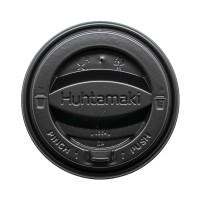 Крышка черная для бумажного стакана Huhtamaki 250мл, d= 80мм
