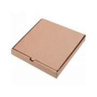 Коробка картон для пиццы 330х330х40мм белая/бурая