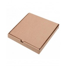 Коробка картон для пиццы 250х250х40мм бурая