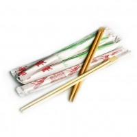 Палочки для еды 23см в белой бум.уп.с рисунком
