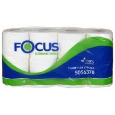 Туалетная бумага 2сл. белая Focus Economic Choice 8 рул/уп
