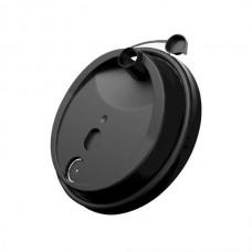 Крышка черная с заглушкой для бумажного стакана 250мл, d= 80мм
