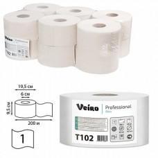 Туалетная бумага 1сл. 200м белая Veiro Professional Basic T102