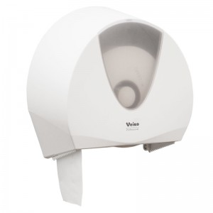 Диспенсер белый Veiro Jumbo для туалетной бумаги в средних/больших рулонах