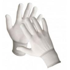 Перчатки белые нейлоновые антистатичные