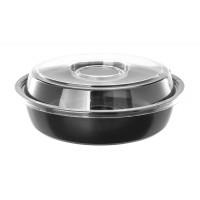 Контейнер для салата с соусником КД-106 d=200мм + крышка