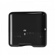 Диспенсер для листовых полотенец черный сложения ZZ и C Tork Singlefold H3
