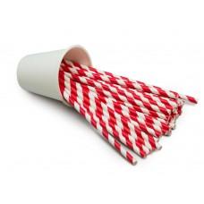 Трубочка бумажная d=6мм L=195мм красно-белая 250шт/уп