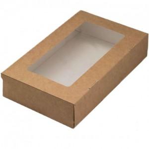 Упаковка на 1000 мл с окном 200х120х41мм