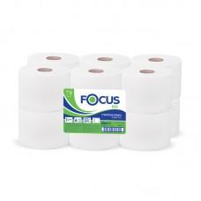 Туалетная бумага 2сл. 170м белая Focus Mini Jumbo 12рул/уп