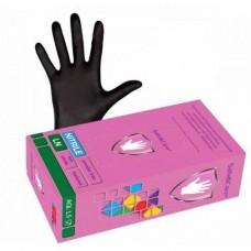 Перчатки нитриловые черные 100шт/уп Safe&Care р-р M