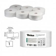 Туалетная бумага белая  1сл. 450м Veiro Professional Basic T101