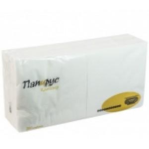 Салфетки бумажные белые Папирус 33х33см 2сл 250л/уп
