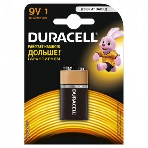 Батарейки Duracell  6LR61/Крона 9V 1шт/уп
