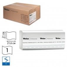 Полотенца бумажные V-слож.Veiro Professional Comfort F1 1сл.250л/уп