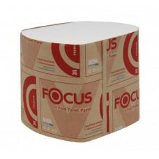 Туалетная бумага 2сл. листовая белая Focus V-fold 250л/уп