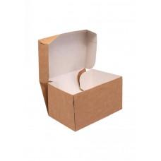 Коробка крафт для пирожных 150х100х85мм