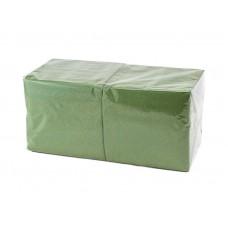 Салфетки 33х33см однослойные зеленые 300 шт/уп