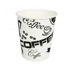 "Стакан бумажный однослойный ""Coffee"" 180мл"