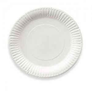 Тарелка бумажная ламинированная с рифл. краями d=230мм