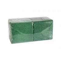 Салфетки 24х24см двухслойные зеленые 250 шт/уп