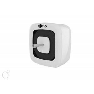 Диспенсер белый Focus для туалетной бумаги с центр.вытяжкой