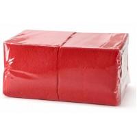 Салфетки 33х33см однослойные красные 300 шт/уп