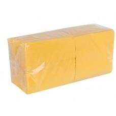 Салфетки 33х33см двухслойные желтые 200 шт/уп