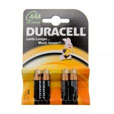 Батарейки Duracell LR03 ААА 4шт/уп