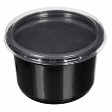 Контейнер 250 мл d=115мм черный + крышка