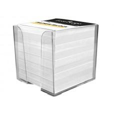 Блок бумажный в пластиковой подставке 90х90х90мм