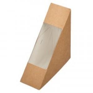 Коробка для сэндвича 124х124х38мм с окном