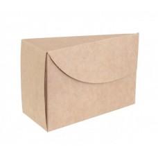 Коробка для торта крафт 140х140х70мм