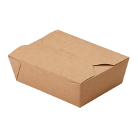 Бумажный контейнер ECO FOLD BOX600 130x105x64мм
