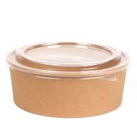 Контейнер бумажный ECO RCONT Pure Craft  620мл d=150мм h=45мм + крышка
