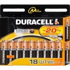 Батарейки Duracell Basic LR6 АА 18шт/уп
