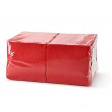 Салфетки 24х24см двухслойные красные 250 шт/уп