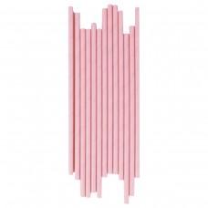 Трубочка бумажная d=6мм L=195мм розовая 250шт/уп