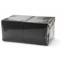 Салфетки 33х33см однослойные черные 300 шт/уп