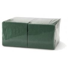Салфетки 33х33см двухслойные зеленые 200 шт/уп