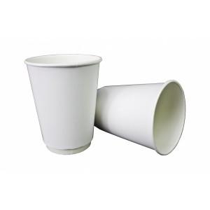 Стакан бумажный двухслойный белый 400 мл