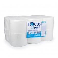 Туалетная бумага 2сл. 120м белая с центр.вытяжкой Focus Point 12рул/уп