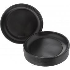 Тарелка черная ПП d=220мм