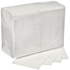 Салфетки 24х24см двухслойные белые 250 шт/уп