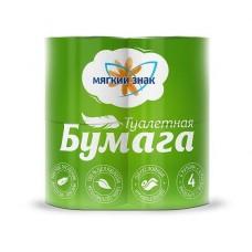 """Туалетная бумага 2сл. белая """"Мягкий знак"""" 4 шт/уп"""