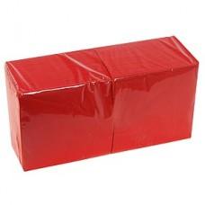 Салфетки 33*33см двухслойные красные 200шт/уп