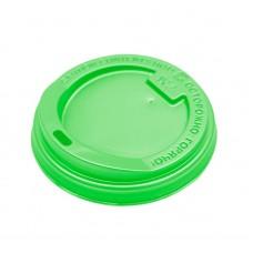 Крышка зеленая для бумажного стакана 350мл, d= 90мм