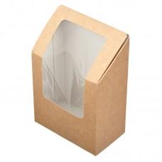 Упаковка под ролл с прозрачным окном 130х90х50мм