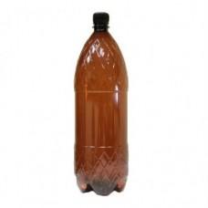 Бутылка ПЭТ 1,5 л коричневая с черной пробкой
