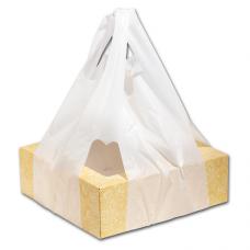 "Пакет ""майка"" прозрачная 14мкм для коробок под пиццу"